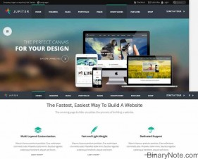 jupitor wordpress theme for business website