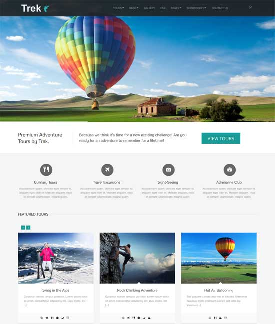 Treking WordPress Theme