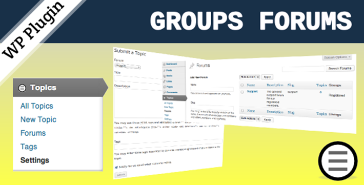 group forum wordpress plugin