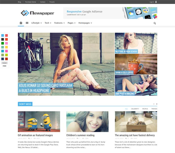 Newspaper-review-wordpress theme
