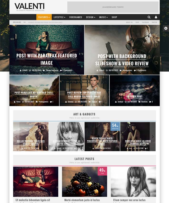 Valenti-premium-review-wordpress template