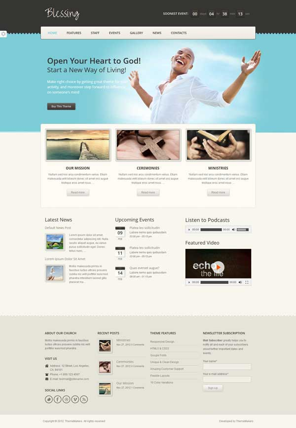Blessing-WordPress Church Theme