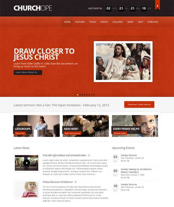ChruchHope-church wordpress themes
