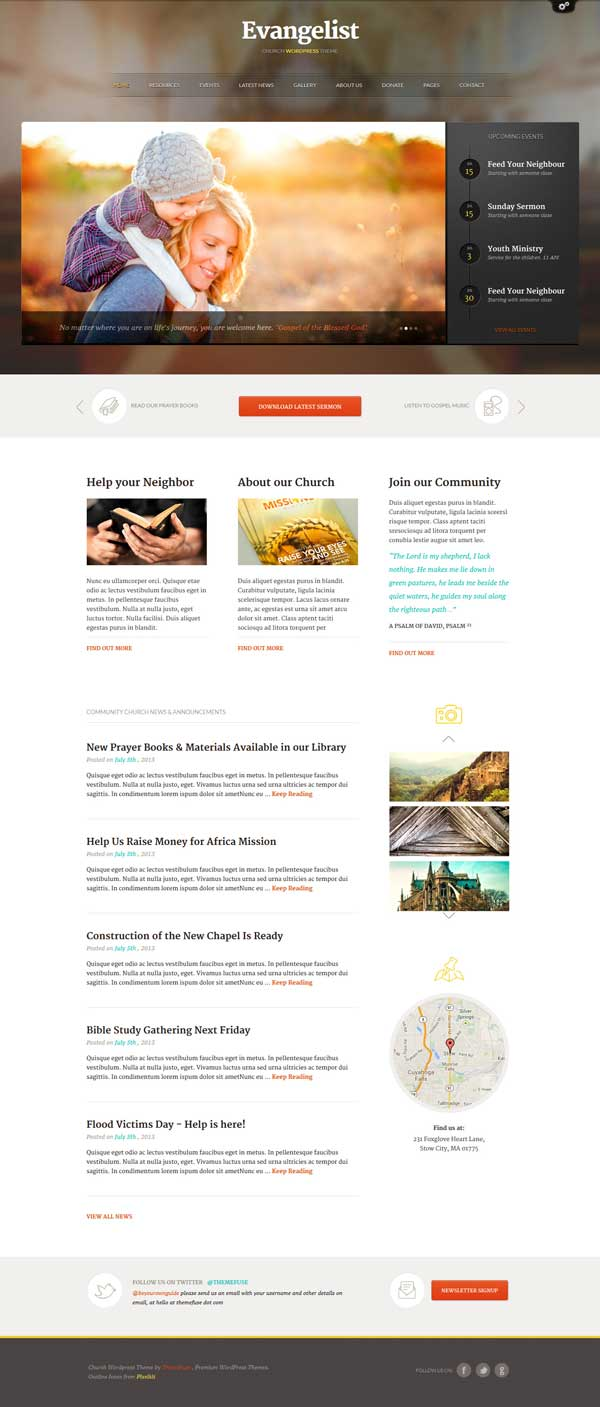 wordpress themes for church websites