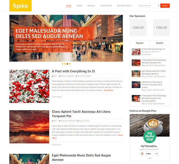 Spike WordPress theme Download Link