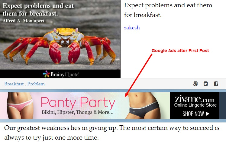 Google Ads after 1st Post