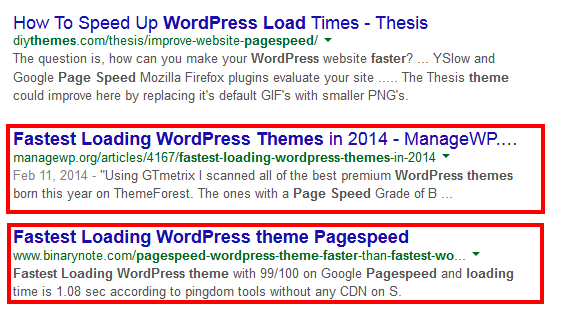 fastest loading wordpress theme pagespeed