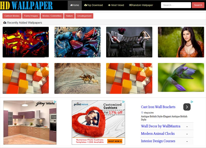 Wallpaper WordPress theme Download