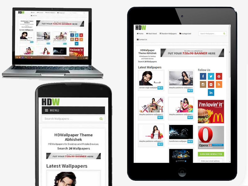 Responsive-Wallpaper-WordPress theme