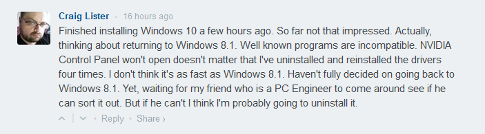 Driver Issue with Windows 10
