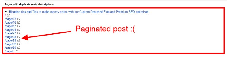 Paginated page posting duplicate title error