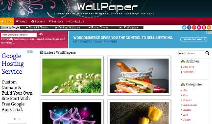 WordPress theme for Wallpaper Website