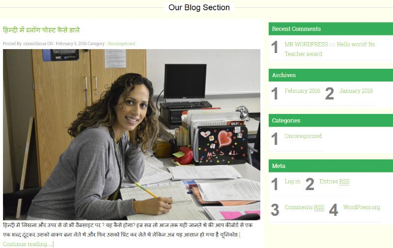 WordPress theme for school