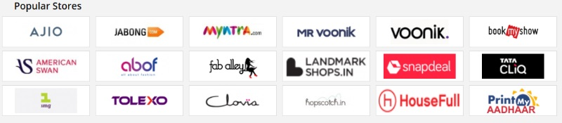Shops with promo codes