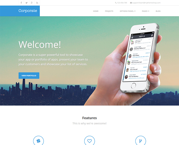 WorddPress theme for corporate
