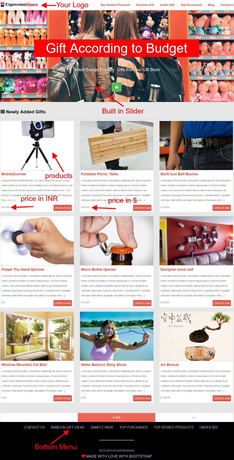 Gift WordPress Theme -4