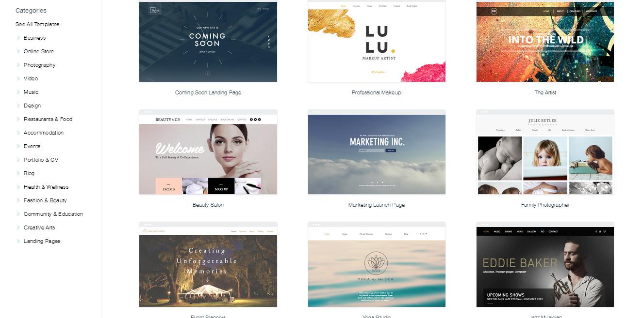 Wix easy to use advanced customization site builder to Build easy website