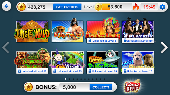 Rivers Casino selection of games on iPad