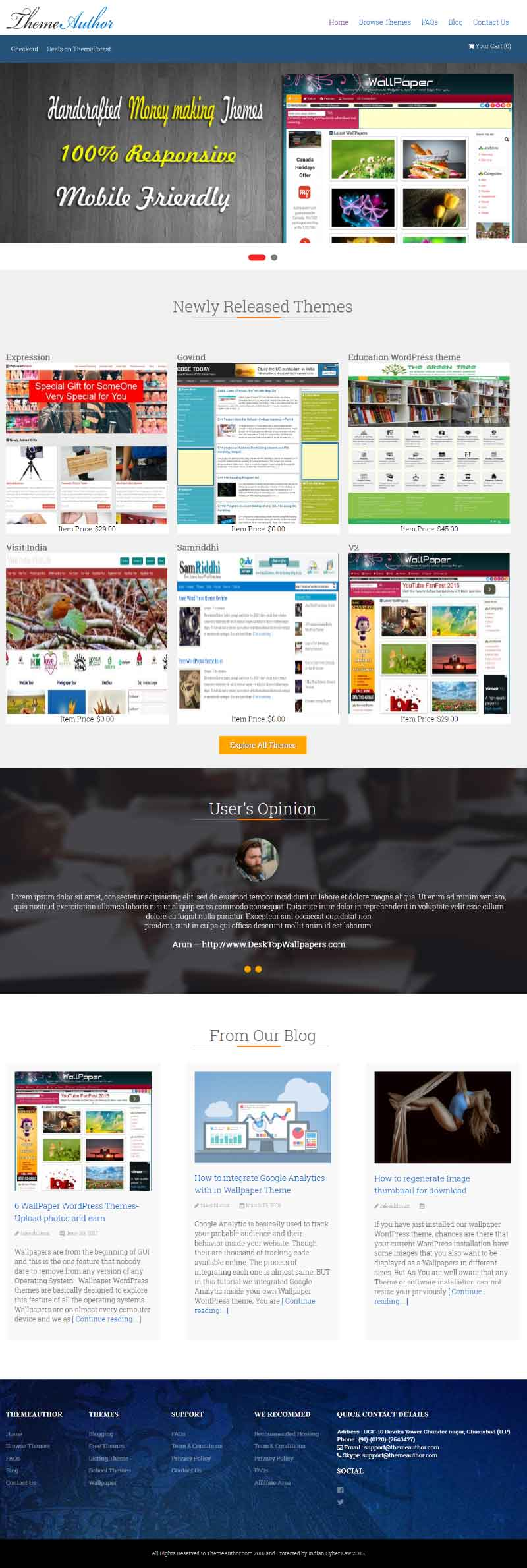 WordPress theme for selling themes