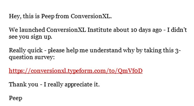 email-from-conversionXL