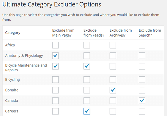 Category Excluder Plugin in action