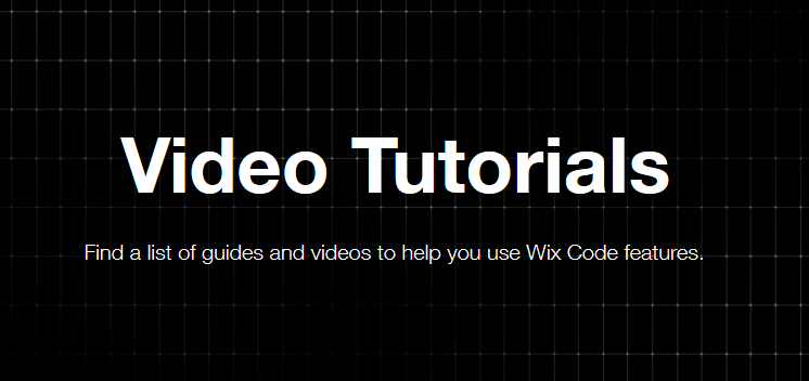 wixcode video tutorial