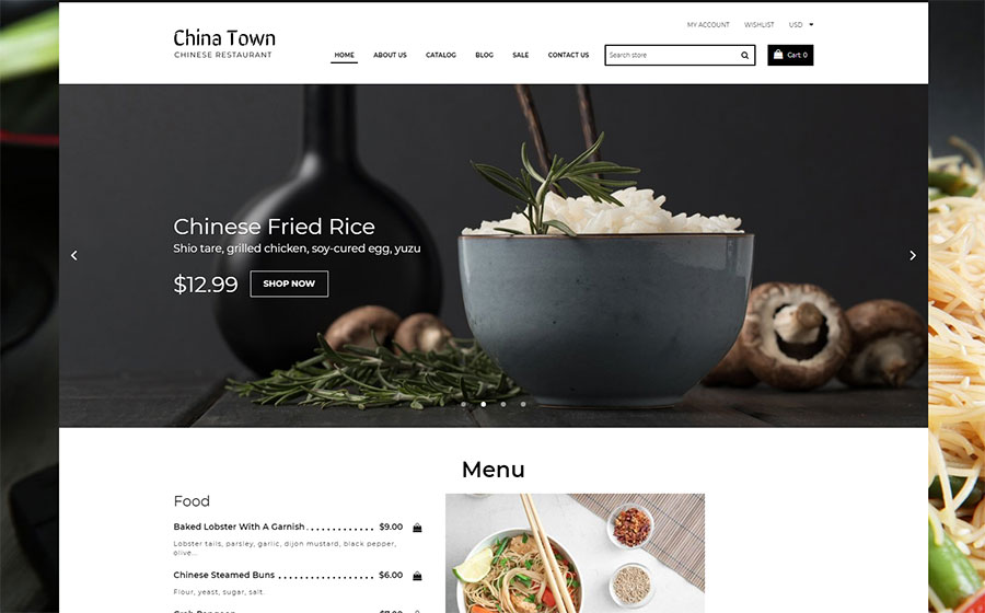 China Town - Sushi Restaraunt Shopify Theme